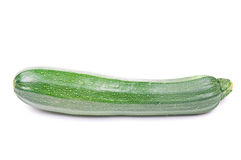 Vegetable marrow. Isolated on the white background Royalty Free Stock Images