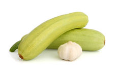 Vegetable marrow with garlic Stock Photos