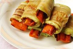 Vegetable marrow rolls Stock Image