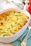 Vegetable marrow squash casserole with cheese and shallot Stock Images