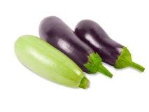 Vegetable marrow and two eggplant Stock Image