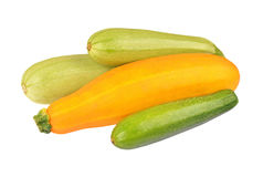 Vegetable marrow (zucchini). Isolated on white background Royalty Free Stock Photo