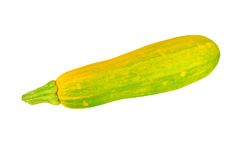 Vegetable marrow (zucchini). Isolated on white background Stock Photo