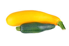 Vegetable marrow (zucchini). Isolated on white background Stock Photography