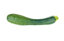 Vegetable marrow (zucchini). Isolated on white background Royalty Free Stock Photography