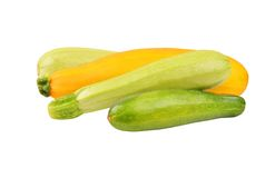 Vegetable marrow (zucchini). Isolated on white background Royalty Free Stock Images
