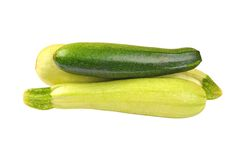 Vegetable marrow (zucchini). Isolated on white background Stock Images