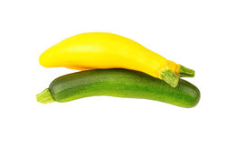 Vegetable marrow (zucchini). Isolated on white background Stock Image