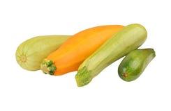 Vegetable marrow (zucchini). Isolated on white background, DOF Royalty Free Stock Image