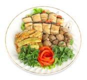 Vegetable marrows, eggplants, mushrooms Royalty Free Stock Image