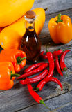 Vegetable marrows  paprika and olive oil Royalty Free Stock Images