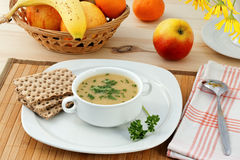 Vegetable mashed soup. Royalty Free Stock Photos