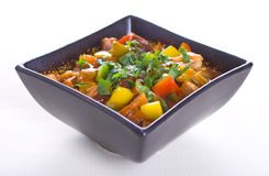 Vegetable and meat stew. Colors vegetable and meat stew Royalty Free Stock Photography