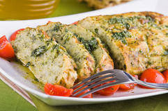 Vegetable meatloaf. Royalty Free Stock Images