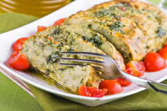 Vegetable meatloaf. Royalty Free Stock Photo