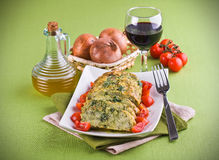 Vegetable meatloaf. Royalty Free Stock Photography