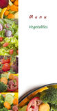 Vegetable menu Royalty Free Stock Photos