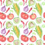 Vegetable Mexican Cuisine Pattern Stock Photos