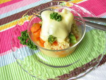 Vegetable millet gratin Stock Images