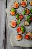 Vegetable mini pizza Royalty Free Stock Image