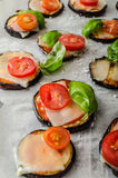 Vegetable mini pizza Royalty Free Stock Photo