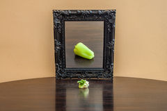 Vegetable in the mirror Royalty Free Stock Photography