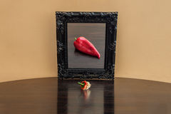 Vegetable in the mirror Stock Photography