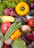 Vegetable mix background Royalty Free Stock Images