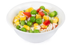 Vegetable mix in bowl Stock Image