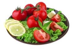 Vegetable mix on dark dish Stock Photo