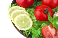 Vegetable mix on dark dish Stock Photography