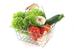 Vegetable Mix In The Shopping Cart Stock Photos