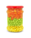 Vegetable mix jar Stock Photography