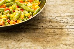 Vegetable mix in the pan Royalty Free Stock Photography