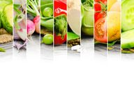 Vegetable mix. Photo of abstract vegetable mix with white space for text Royalty Free Stock Photo