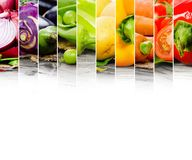 Vegetable mix. Photo of colorful vegetable mix with white space for text Royalty Free Stock Photography