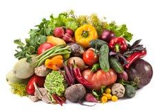 Vegetable mix on white Royalty Free Stock Image