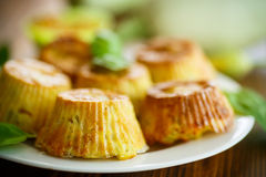 Vegetable muffins with zucchini Stock Image