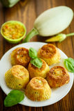 Vegetable muffins with zucchini Royalty Free Stock Images