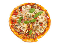 Vegetable and mushroom vegetarian pizza Royalty Free Stock Image