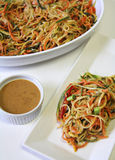 Vegetable Noodle Salad Peanut Sauce vertical Royalty Free Stock Photography