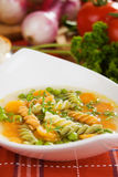 Vegetable noodle soup Royalty Free Stock Photos