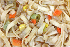 Vegetable and Noodle Soup Close View Stock Images