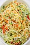 Vegetable noodles closeup vertical Stock Photos