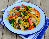Vegetable noodles Royalty Free Stock Photo