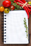 Vegetable notebook. Royalty Free Stock Image
