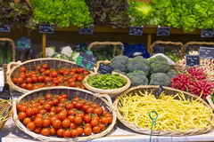 Vegetable numbers. In the market Royalty Free Stock Photo