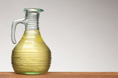 Vegetable oil in bottle Stock Photo