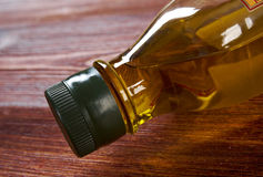 Vegetable oil bottle Royalty Free Stock Images
