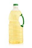 Vegetable oil in plastic bottle Stock Photo